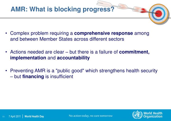 AMR: What is blocking progress?