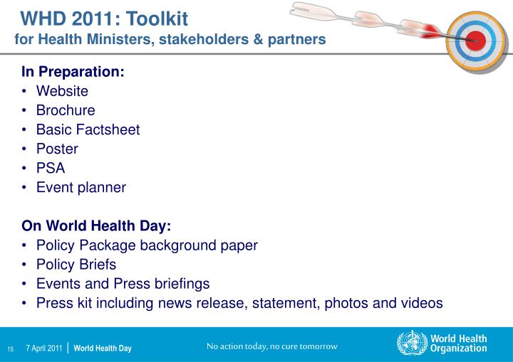 WHD 2011: Toolkit