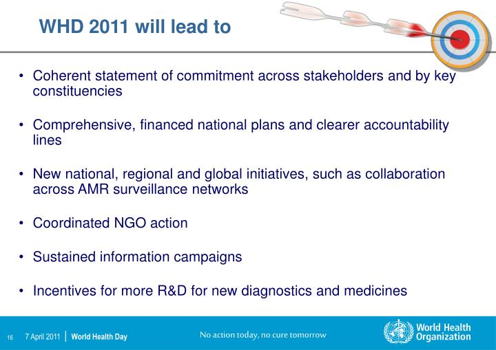 WHD 2011 will lead to