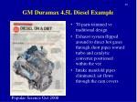 gm duramax 4 5l diesel example