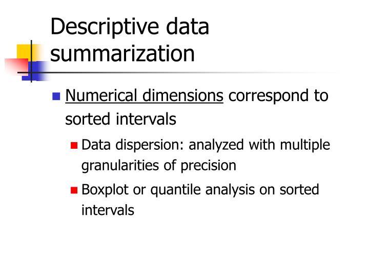 Descriptive data summarization