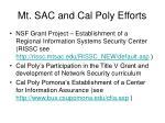 mt sac and cal poly efforts