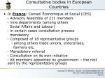 consultative bodies in european countries