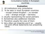 consultative bodies in european countries7
