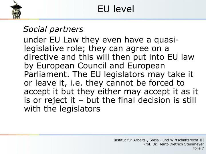 EU level