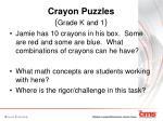 crayon puzzles grade k and 1