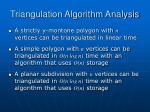 triangulation algorithm analysis