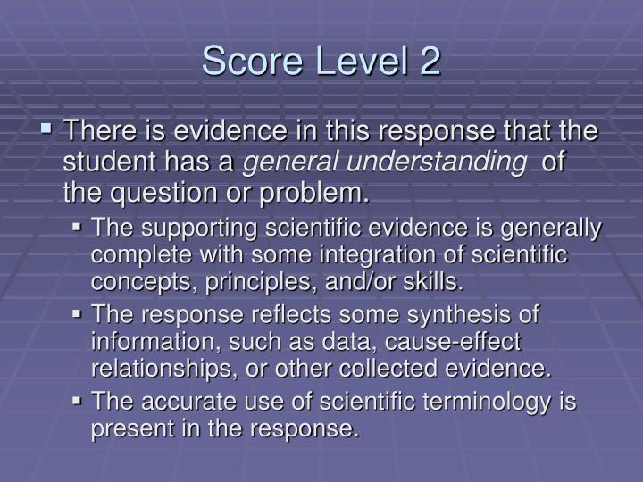 Score Level 2