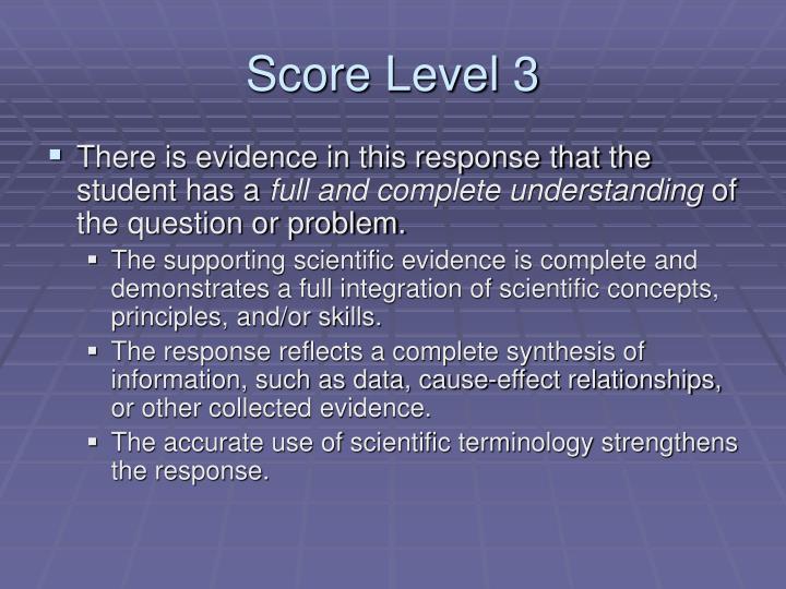Score Level 3