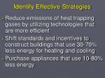 identify effective strategies