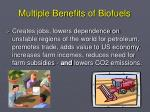 multiple benefits of biofuels