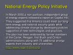 national energy policy initiative