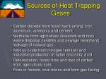 sources of heat trapping gases