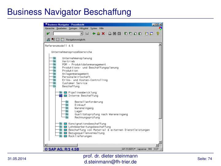 Business Navigator Beschaffung