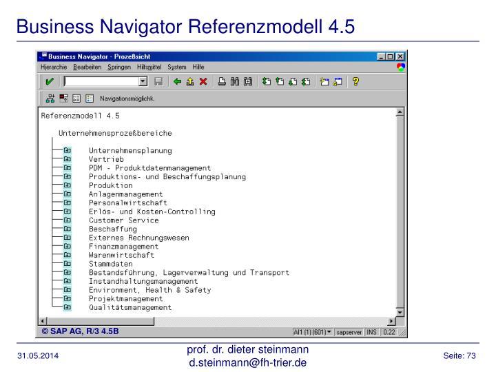 Business Navigator Referenzmodell 4.5