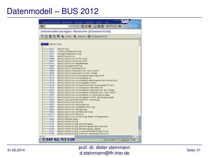 Datenmodell – BUS 2012