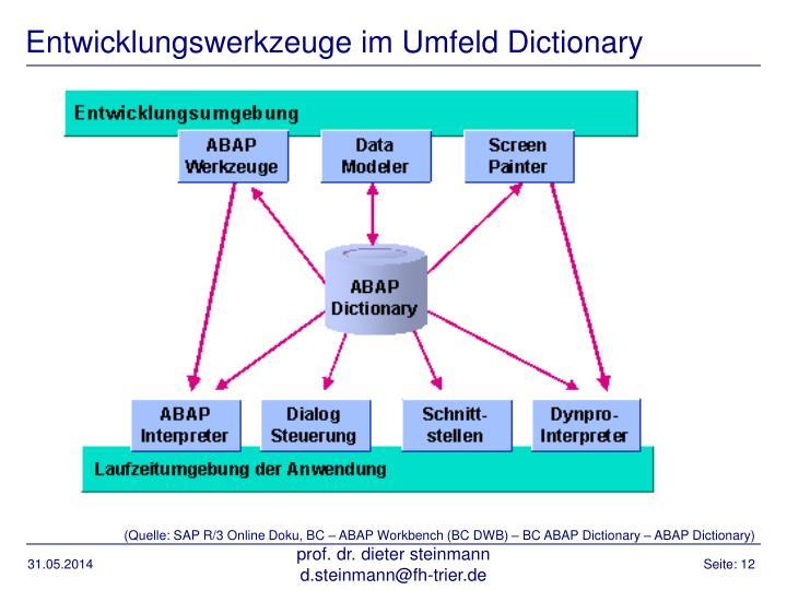 Entwicklungswerkzeuge im Umfeld Dictionary