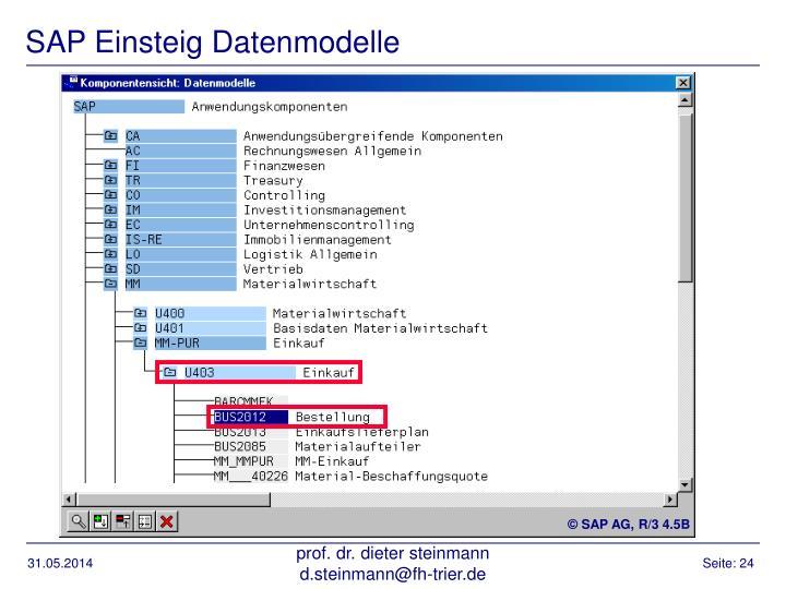 SAP Einsteig Datenmodelle