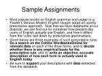 sample assignments1