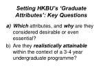 setting hkbu s graduate attributes key questions