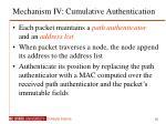 mechanism iv cumulative authentication