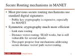 secure routing mechanisms in manet