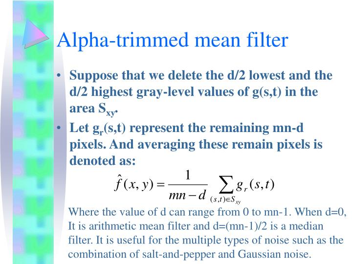 Alpha-trimmed mean filter