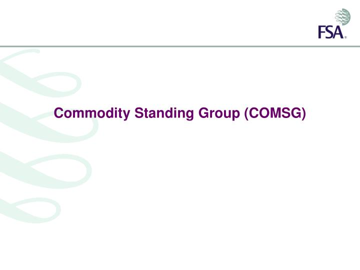 commodity standing group comsg