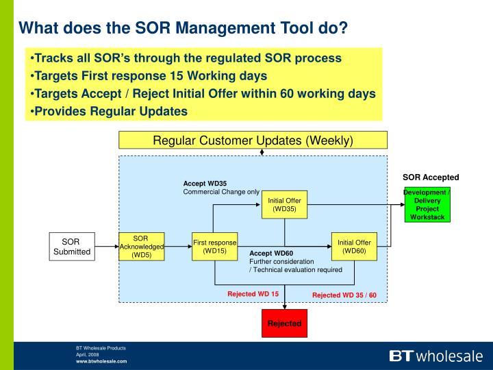 What does the SOR Management Tool do?