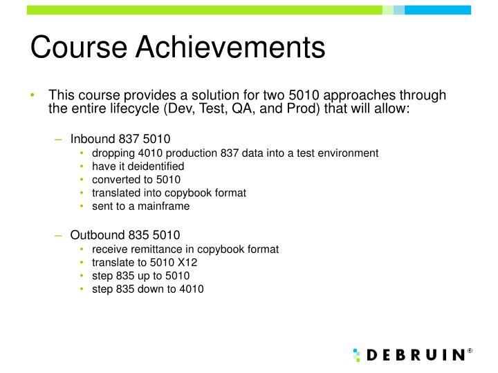 Course Achievements