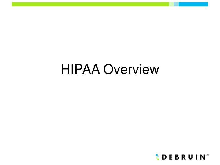 HIPAA Overview