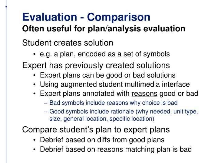 Evaluation - Comparison