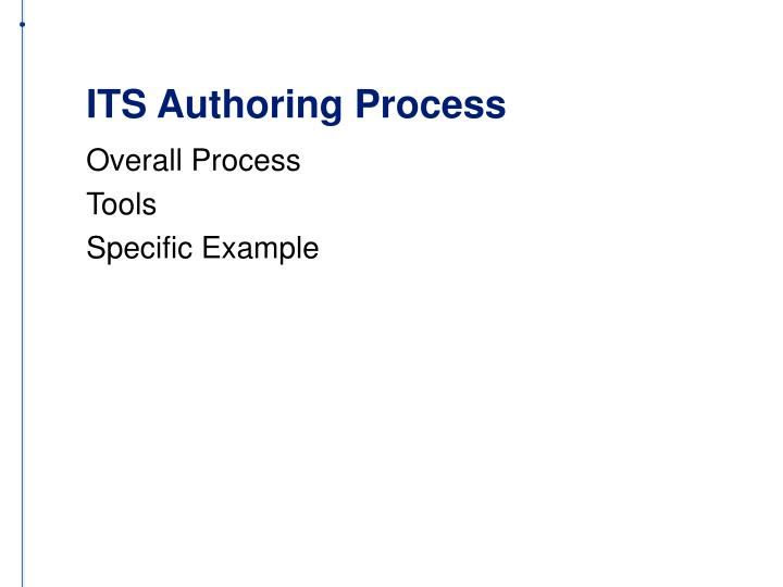ITS Authoring Process
