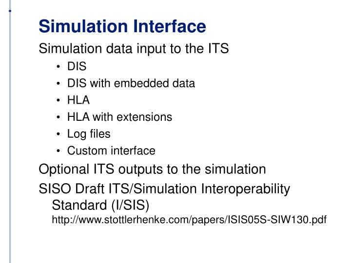 Simulation Interface