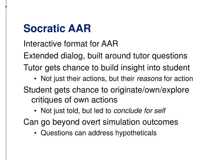Socratic AAR