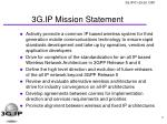 3g ip mission statement