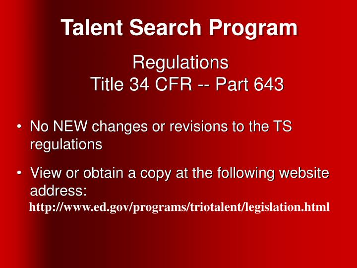 Talent Search Program