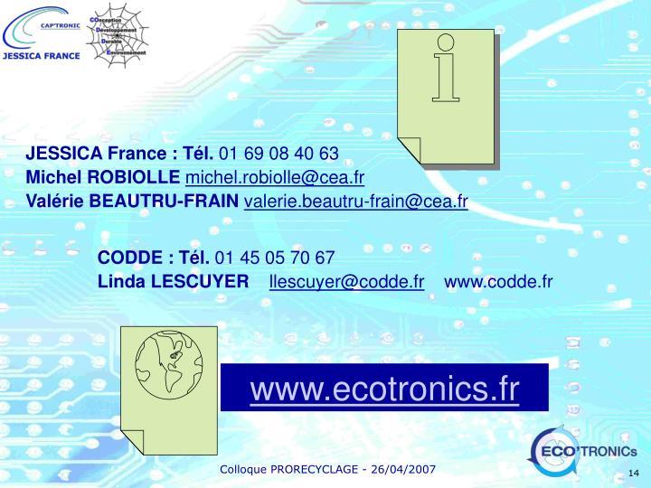 JESSICA France : Tél.
