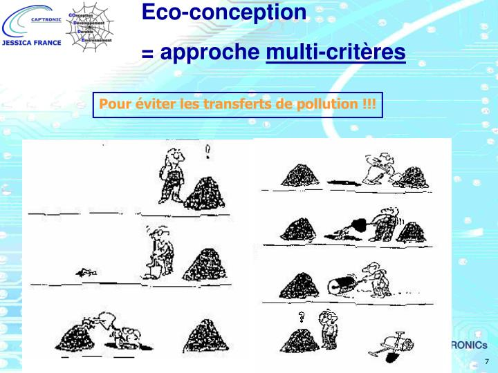 Pour éviter les transferts de pollution !!!