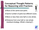 conceptual thought patterns for reasoning with fractions