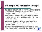 envelope 3 reflection prompts