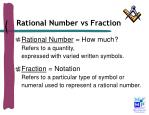 rational number vs fraction