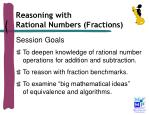 reasoning with rational numbers fractions1