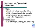representing operations envelope 1