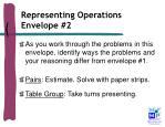 representing operations envelope 2