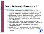 word problems envelope 2