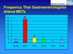 frequency that gastroenterologists attend mdts