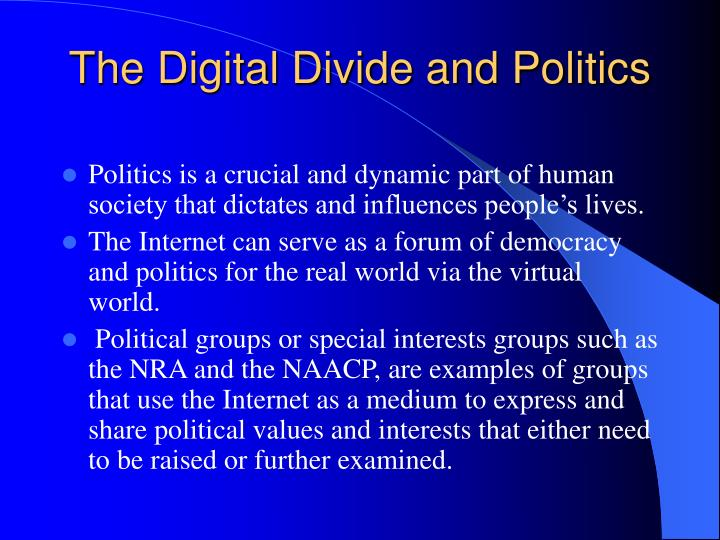 The Digital Divide and Politics