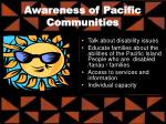 awareness of pacific communities
