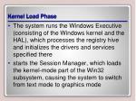kernel load phase